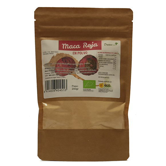 Maca Roja en Polvo - 200 g. Dream Foods