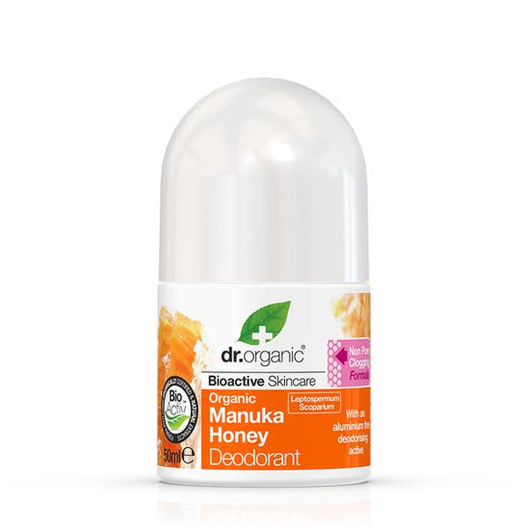 Desodorante Roll On. Miel de Manuka - 50 ml. Dr Organic