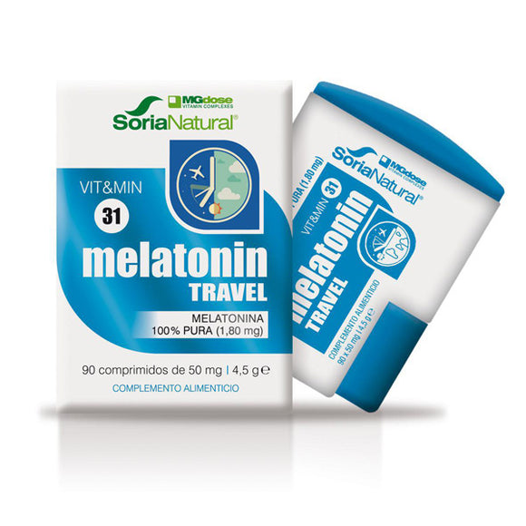 Melatonina Travel. 100% Pura de 1,80 mg - 90 Comprimidos. Soria Natural