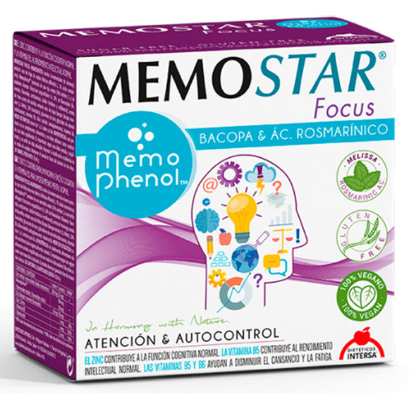 Memostar Focus - 30 Sobres. Dieteticos Intersa
