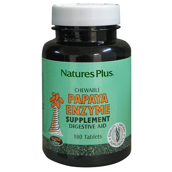 Papaya Enzyme - 180 Comprimidos Masticables. Natures Plus