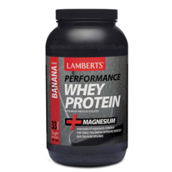 Whey Protein Sabor a Platano - 1000 g. Lamberts