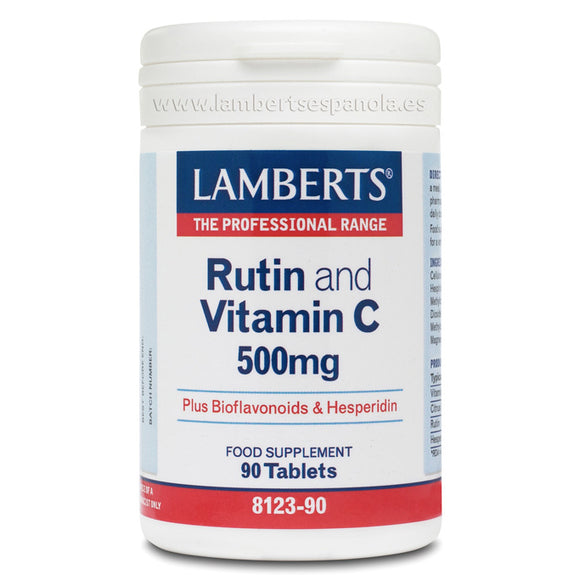 Rutina y Vitamina C 500 mg - 90 Tabletas. Lamberts