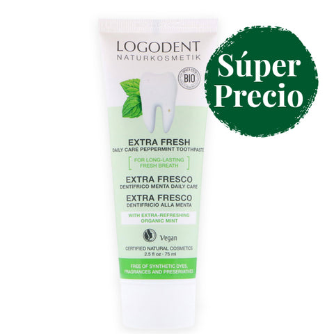 Dentífrico Extra Fresh Menta - 75 ml. Logona.