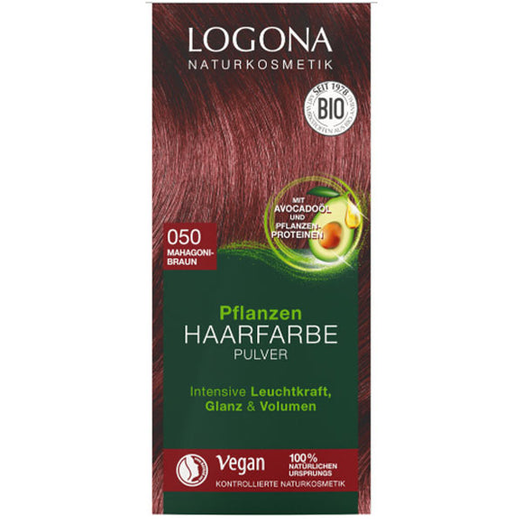 Colorante Vegetal BIO. Marrón Caoba 050 - 100 g. Logona