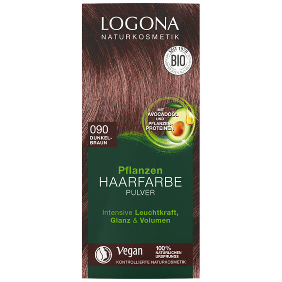 Colorante Vegetal BIO. Marron Oscuro 090 - 100 g. Logona