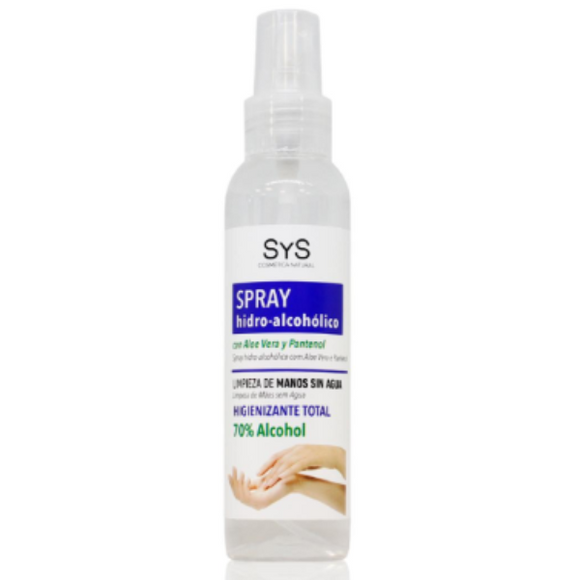 Spray Hidroalcohólico con Aloe Vera  (70% alcohol) - 125 ml. SyS