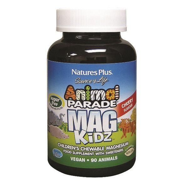 Animal Parade MAG Kidz - 90 Capsulas Masticables. Natures Plus