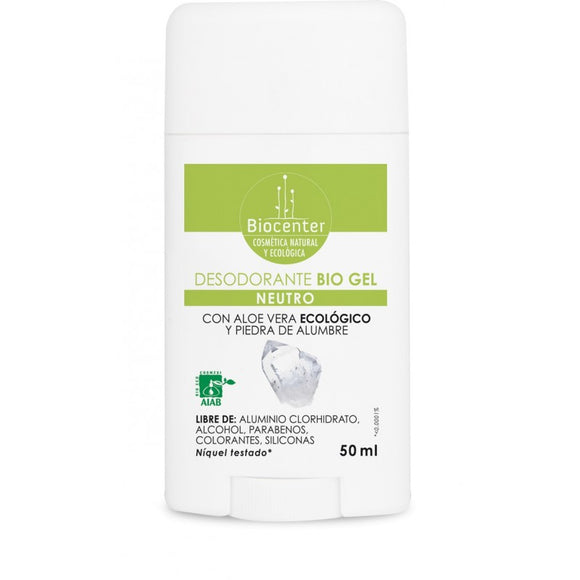 Desodorante BIO en Gel Neutro - 50 ml. Biocenter