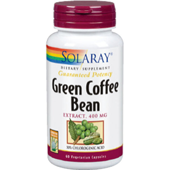 Green Coffe Extract 400 mg - 60 Cápsulas Vegetales. Solaray