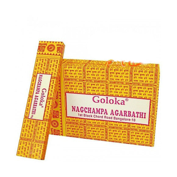 Incienso Goloka Nag Champa Amarillo - 16g. Nature´s Series