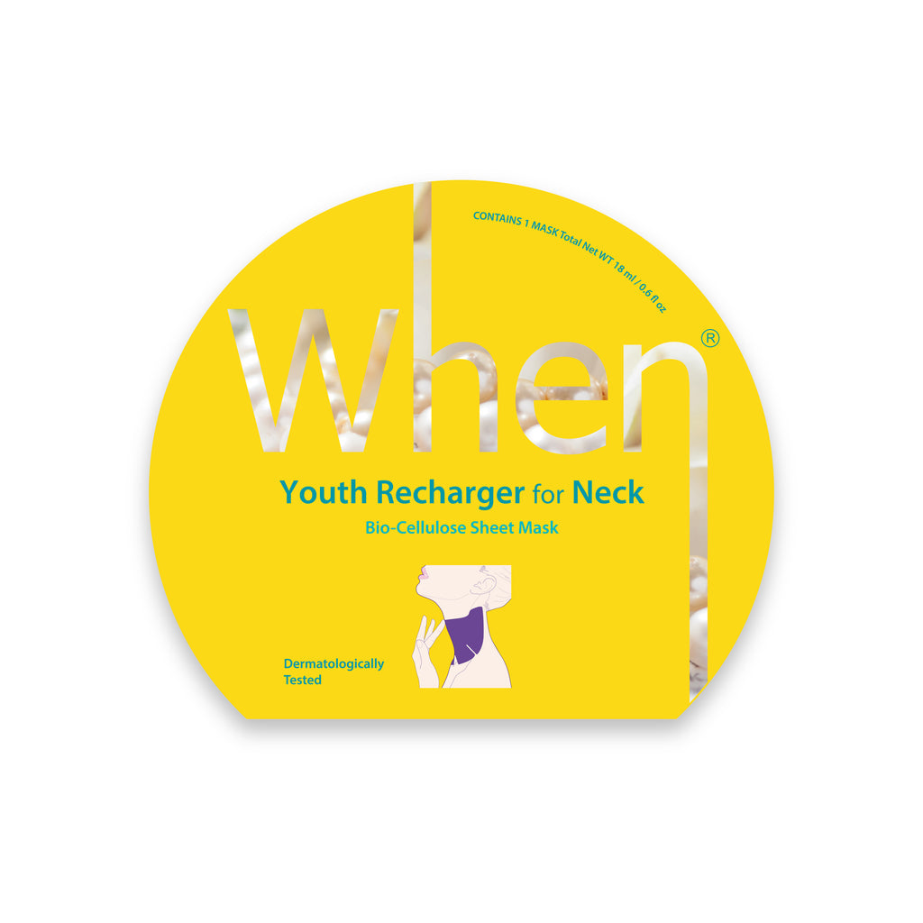 When® Youth Recharger for Neck Premium Bio-Cellulose Sheet Mask