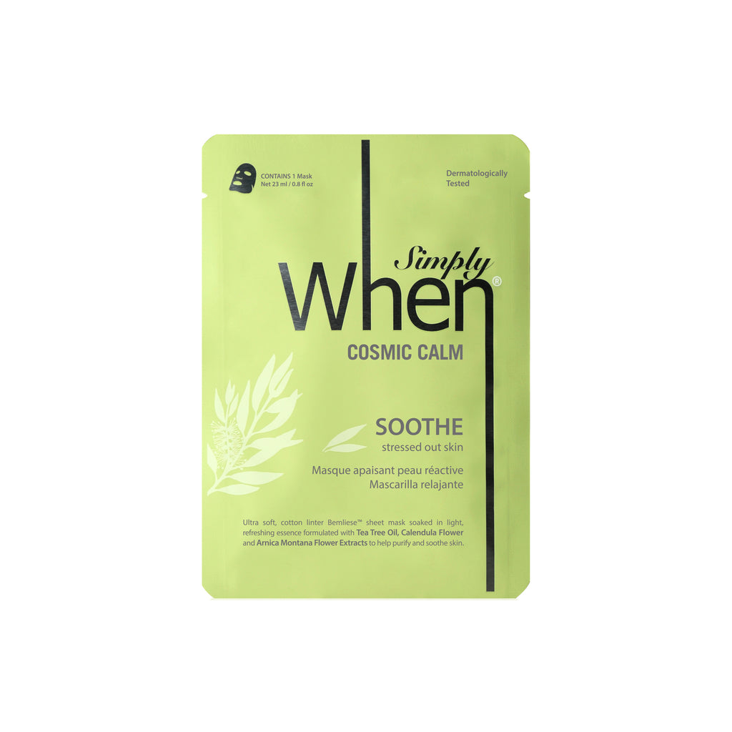 Simply When® Cosmic Calm Soothe Ultra-Soft Cotton Linter Bemliese Sheet Mask