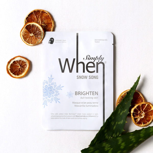 Simply When® Snow Song Illuminate Ultra-Soft Cotton Linter Bemliese Sheet Mask