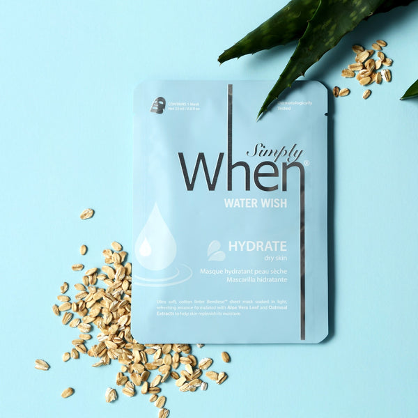 Simply When® Water Wish Hydrate Ultra-Soft Cotton Linter Bemliese Sheet Mask