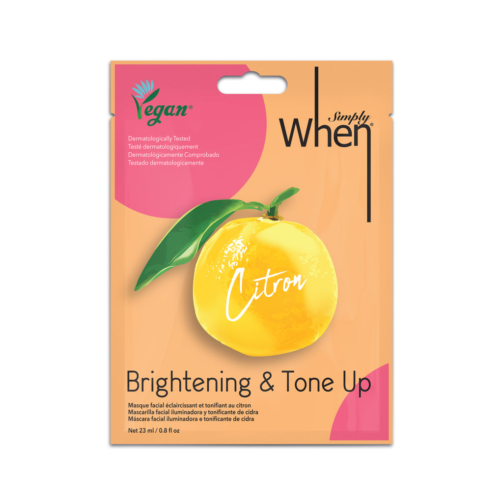 Simply When Vegan Citron Brightening & Tone Up Mask