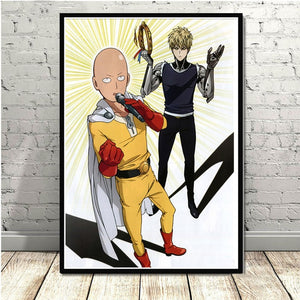 ONE PUNCH MAN  High Quality Unframed Anime Theme Canvas Print 60 x 80cm