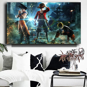 ANIME COLLAGE  Original Main Character Anime Collage Art 70 x 100cm