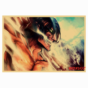 ATTACK ON TITAN  Anime Themed Unframed Canvas Wall Art 60 x 85cm