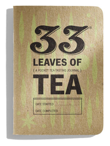 Pocket sized tasting journal 33 leaves of Tea died with tea infused ink