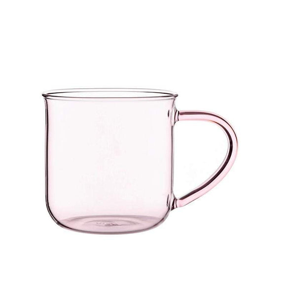Glass Eva Mug Pink 12oz