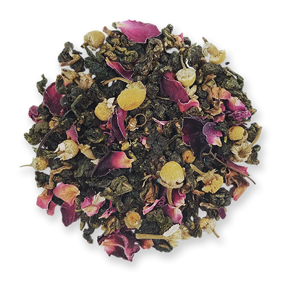 Jasmine Pearl Tea Company Bird Song Oolong Chamomile Rose Loose leaf tea