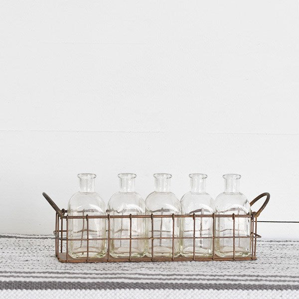 Wire Caddy with 5 Bottles