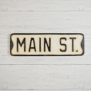 Metal Vintage Style Main Street Sign