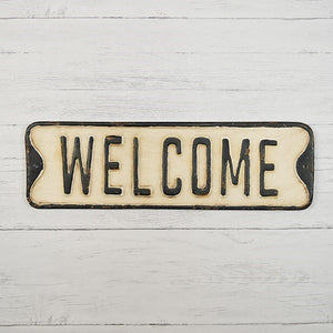 Welcome Street Sign