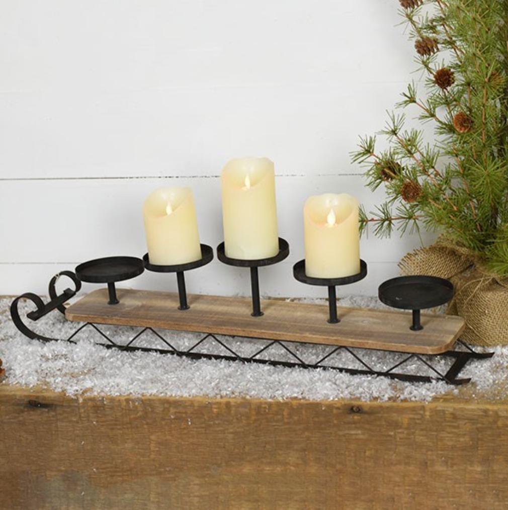 Sleigh Candle Holder