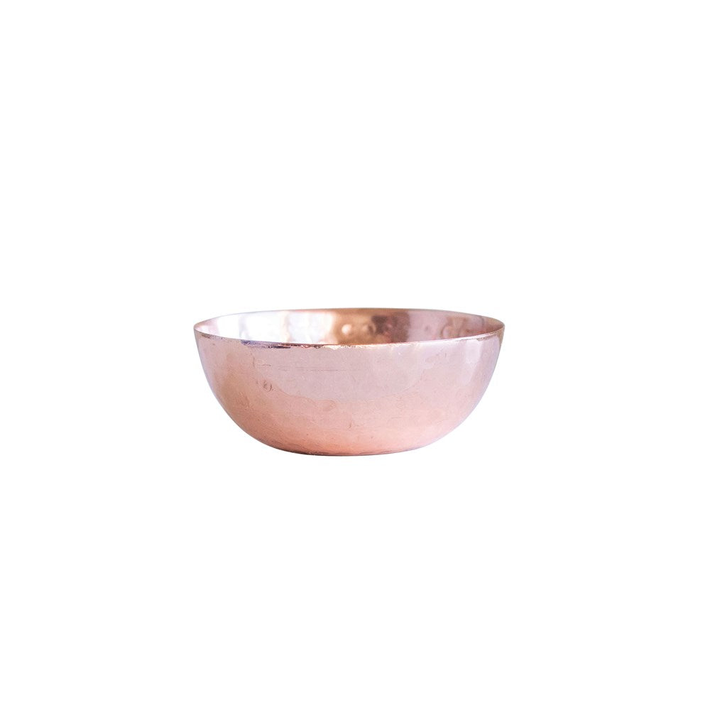 Hammered Metal Pinch Pot, Copper Finish