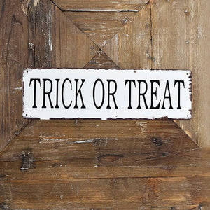 "15.75"" Trick or Treat Sign"