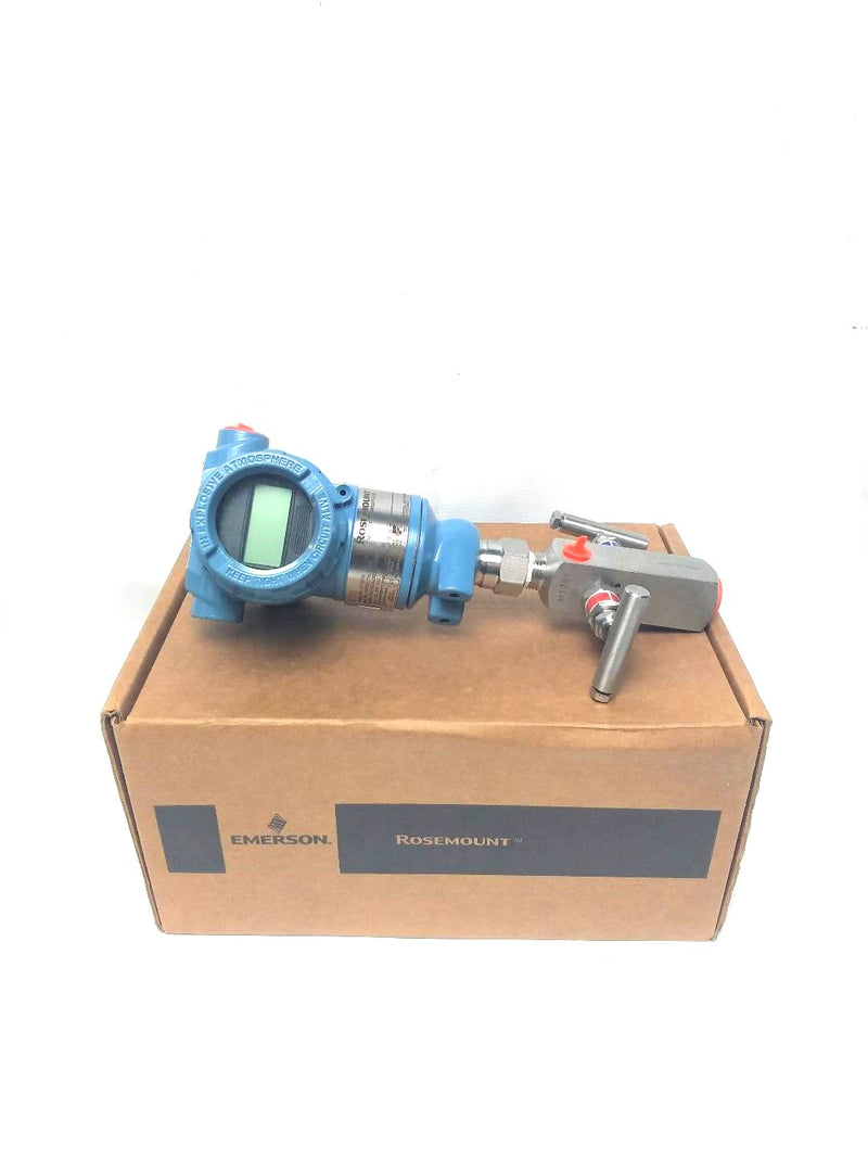 Emerson Rosemount 3051TG3A2B21AS5K5M5HR7 C30610-1126-0000 Pressure Transmitter With Manifold Valve