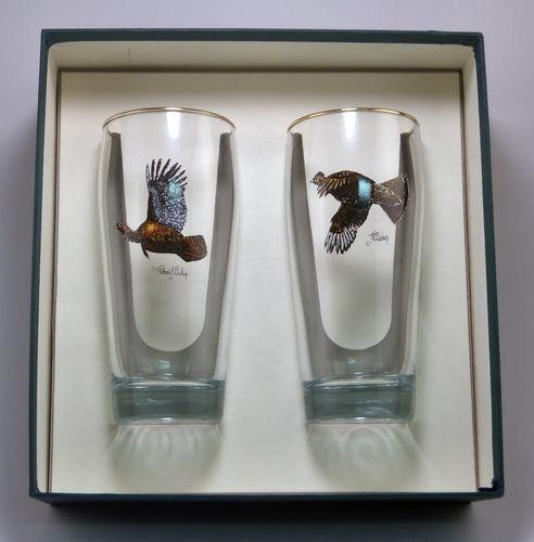 2043GB BEER GLASSES GAMEBIRDS