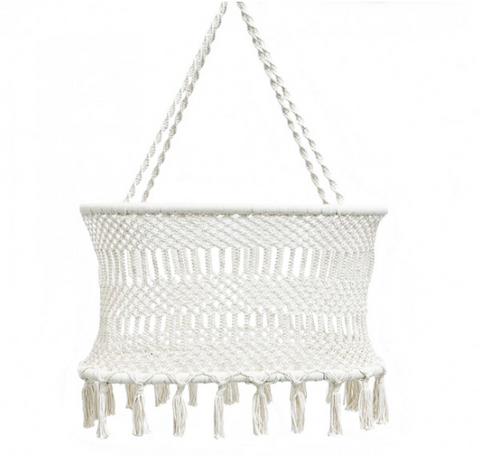 Macrame Bassinet with Mattress (Only 1 Left in Stock)