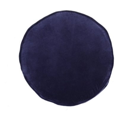 Kip & Co Navy Velvet Pea Cushion
