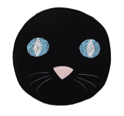 Kip & Co Puss Black Cushion