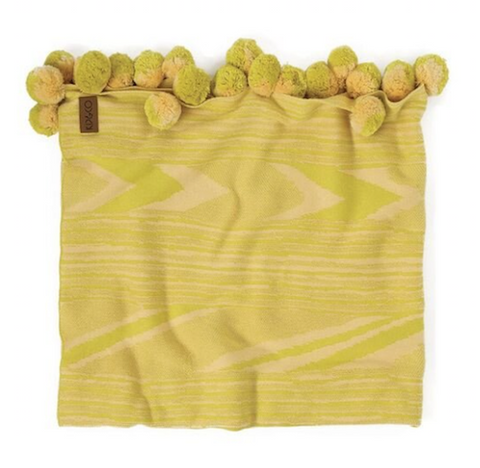 Kip & Co Zebby Yellow Cot Blanket