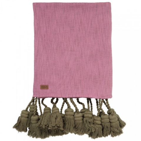 Kip & Co Pinkie Grove Tassel Throw