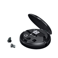Load image into Gallery viewer, Retractable Portable 3 plug magnetic cable Black Charger.