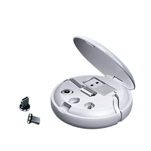 Retractable Portable 3 plug magnetic cable White_Charger.