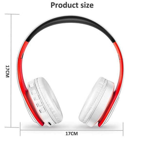 Wireless headset red white