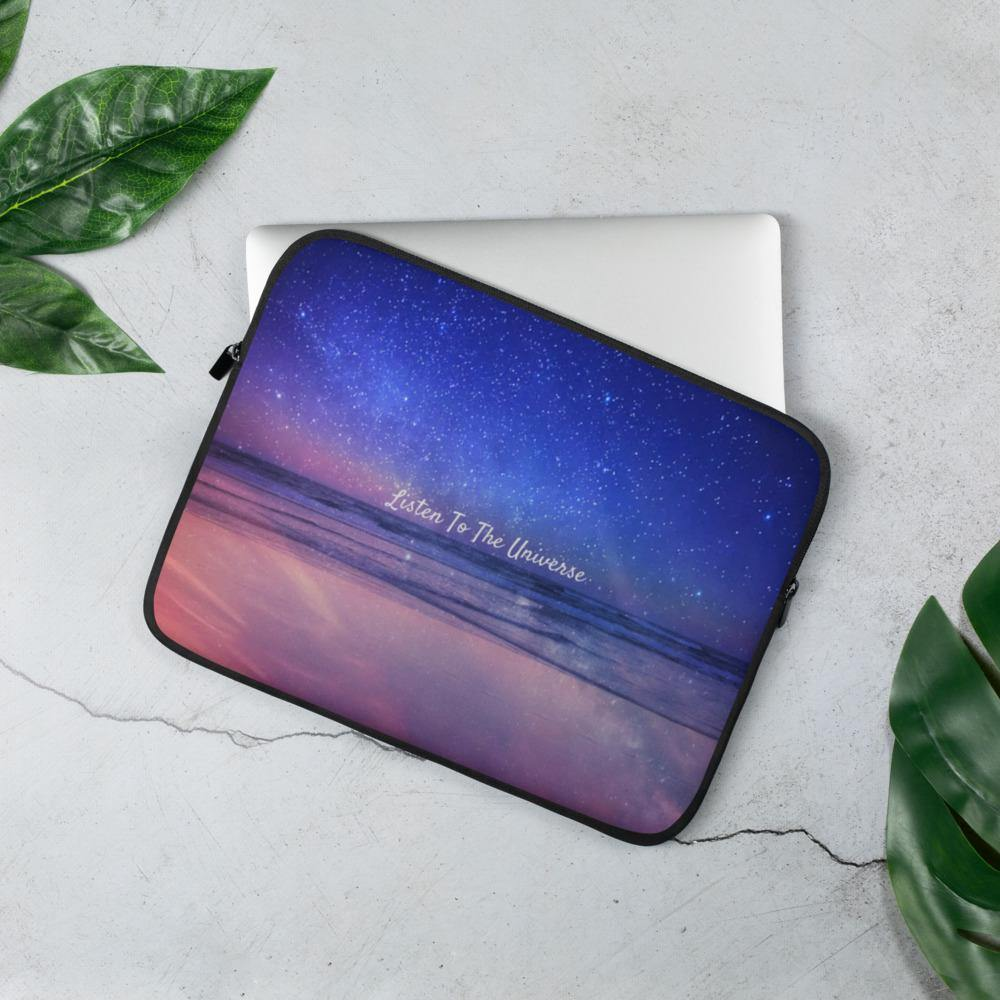 Laptop Sleeve Listen To The Universe - Laptop Sleeve - E-techtrendly