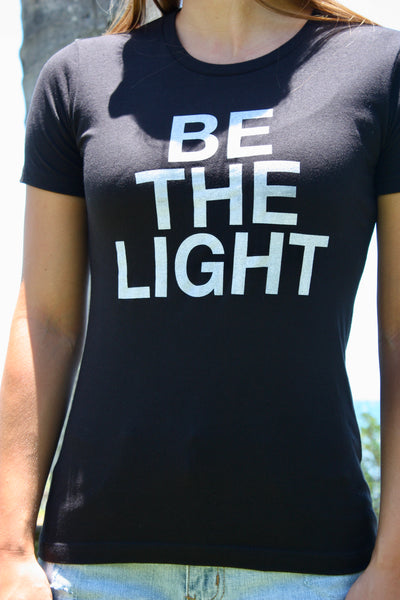 "Women's Black ""Be the Light"" Tee"