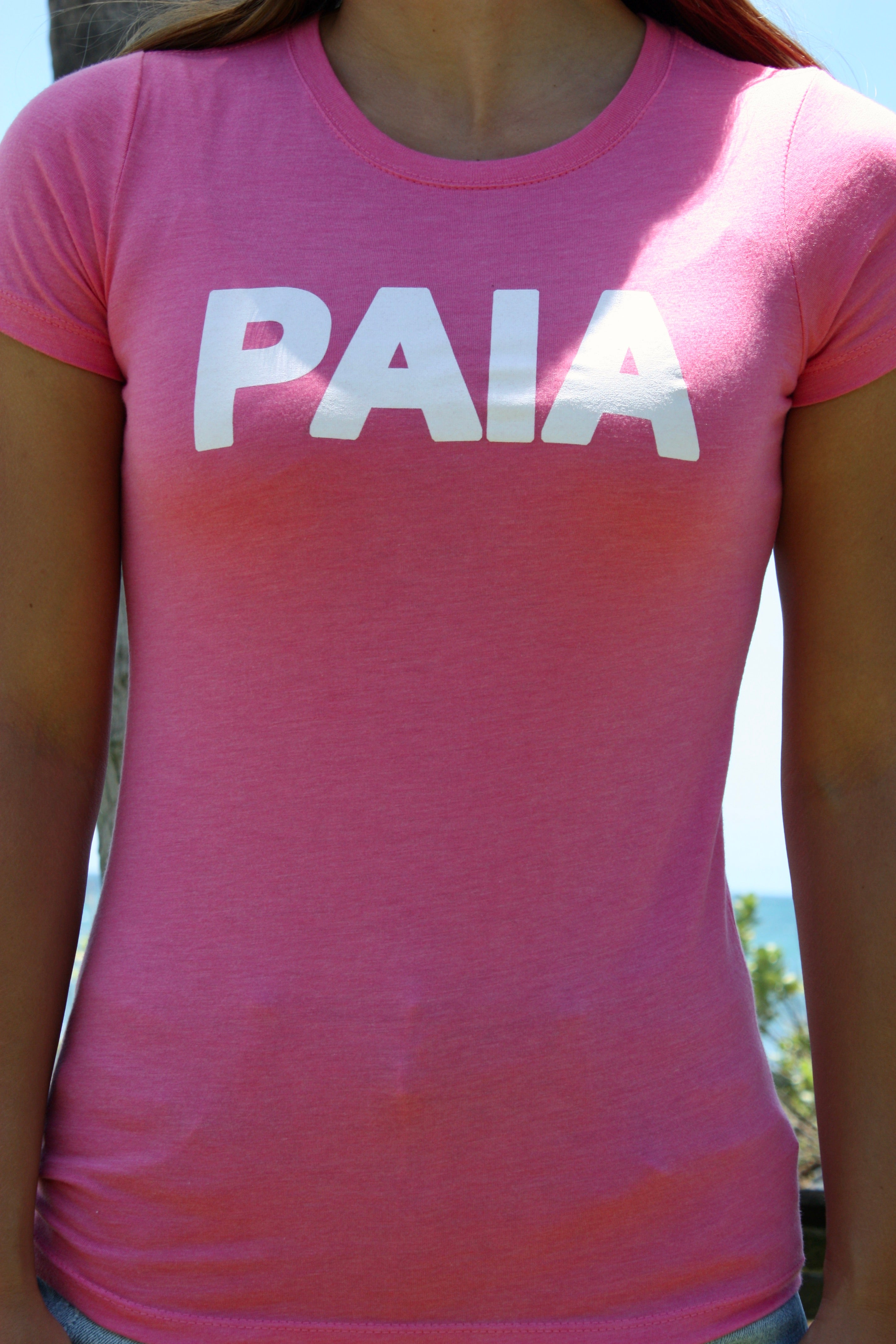 "Women's Hot Pink ""PAIA"" Tee"