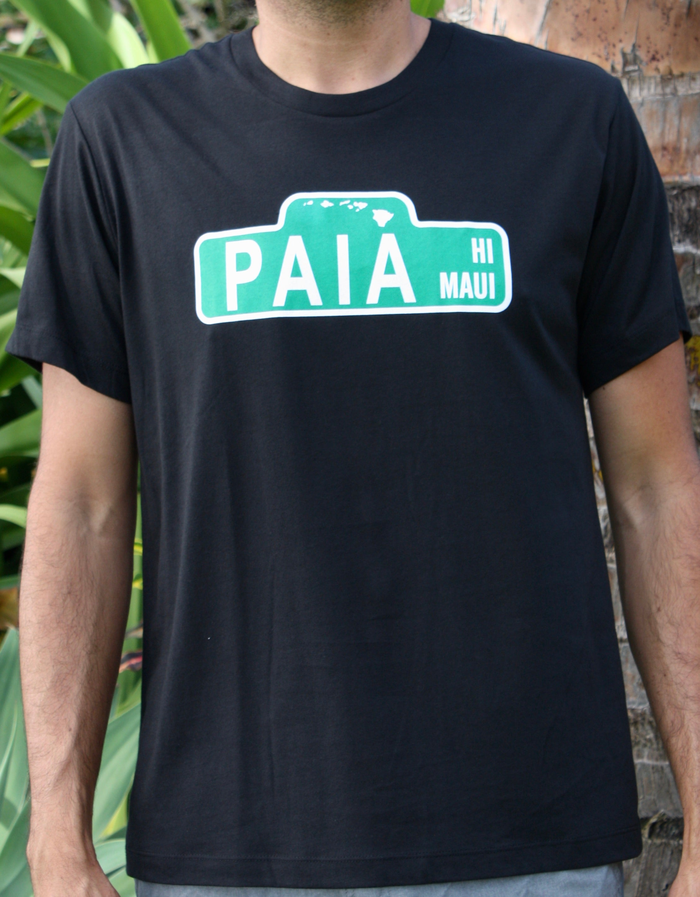 "Men's Black ""Paia st"" Sign Tee"