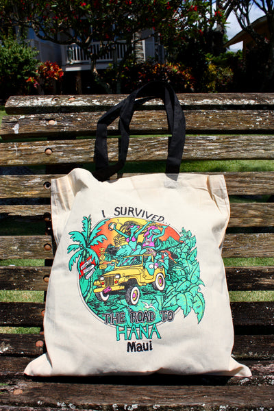 """Road to hana"" Tote"