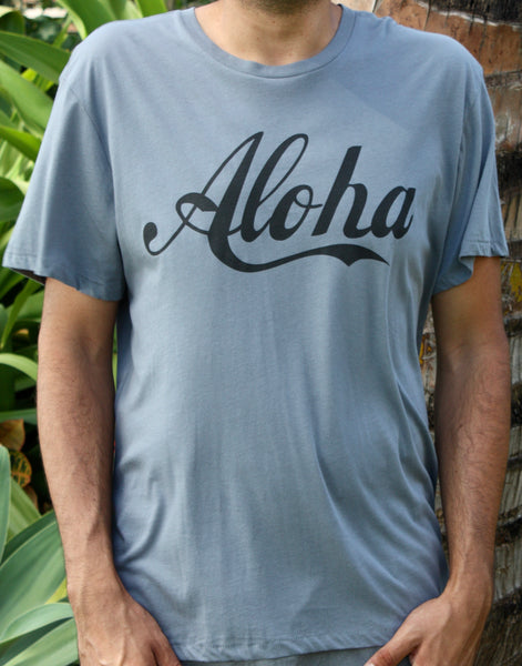 "Men's Grey ""Aloha"" Tee"