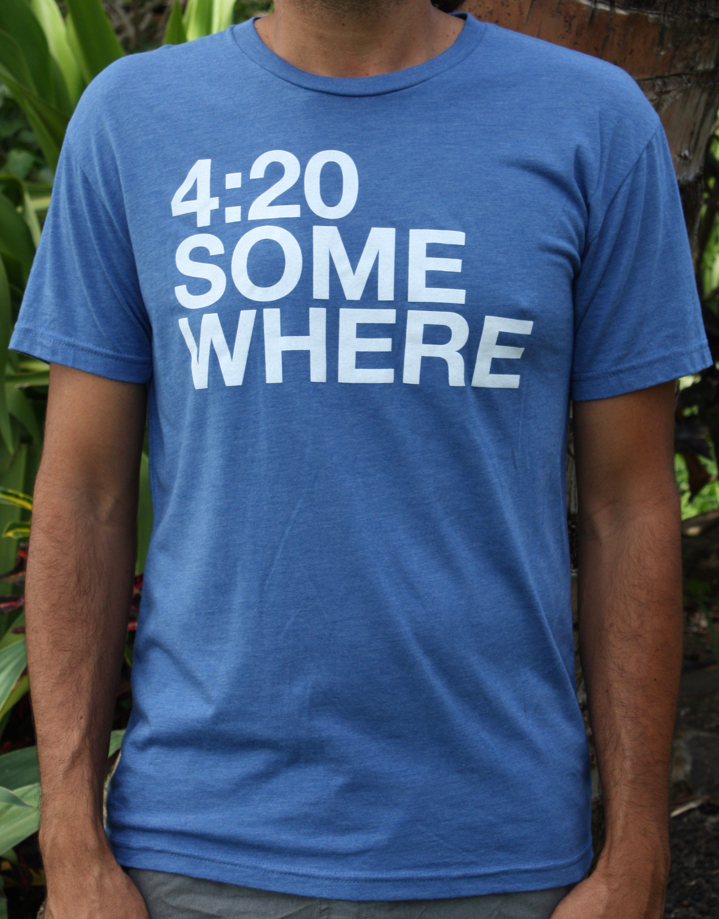 "Men's Blue ""4:20 Somewhere"" Tee"