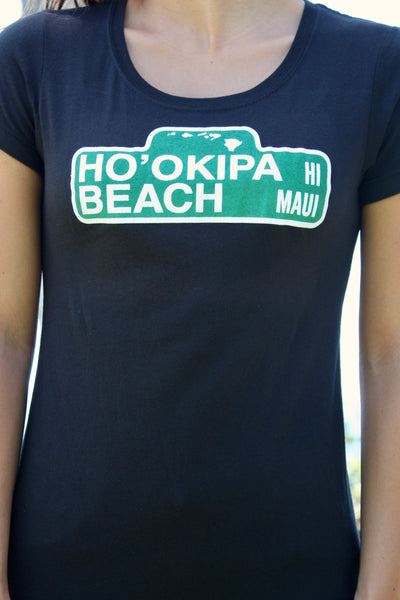 "Women's ""Ho'okipa Beach"" Sign Tee"